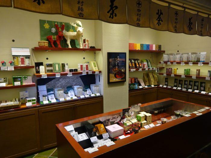 中村藤吉京都駅店 商品販売コーナー